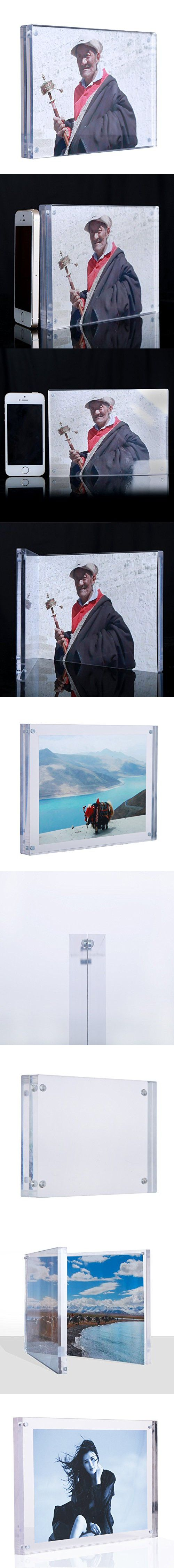 5x7 clear acrylic photo frames magnetic picture frames family picture frames thick desk frames 5x7