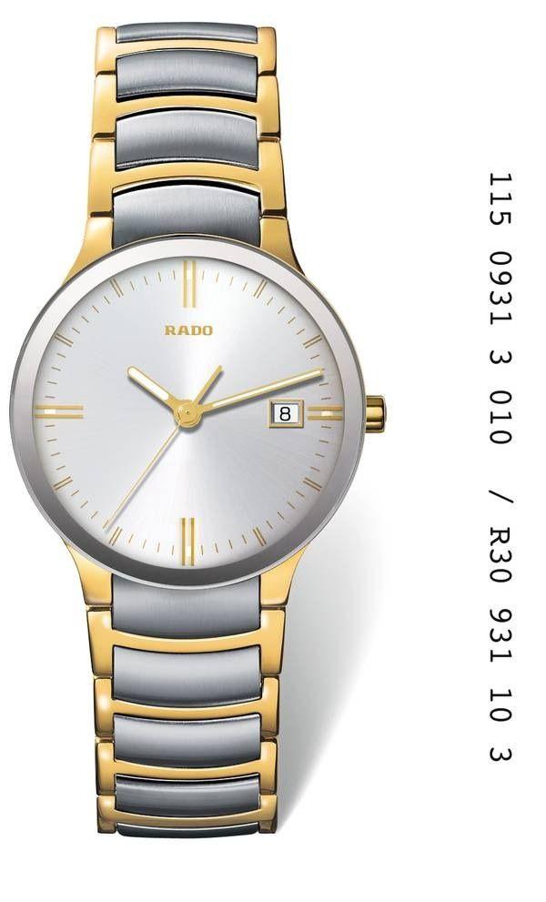 Cómo se chapan los relojes dorados en oro: Reloj Rado dorado bicolor en PVD de oro amarillo ref. R30931103