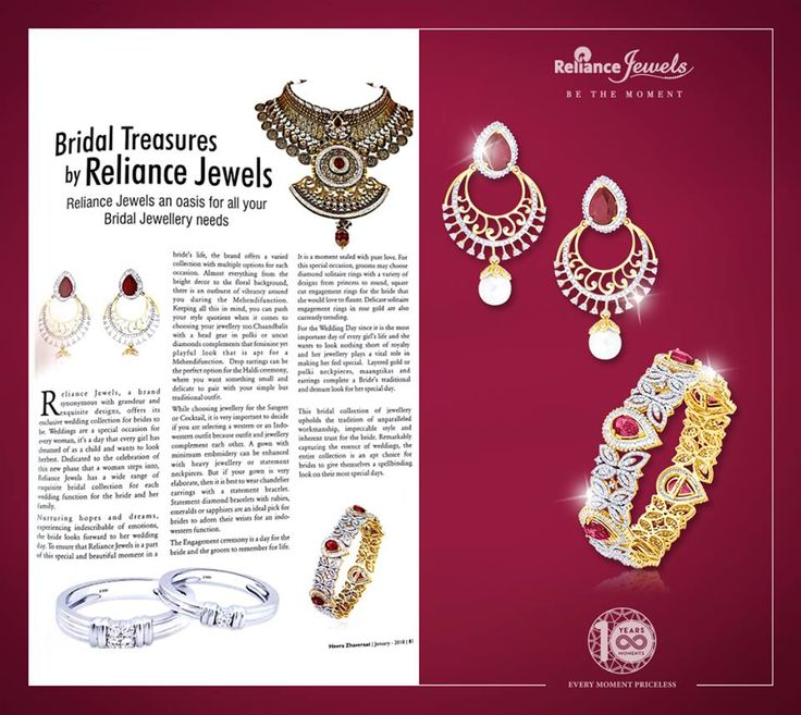 Reliance Jewels featured in Heera Zhaveraat January Edition 2018 with our most vibrant & ravishing bangle & pair of earrings.  #asseenin #RelianceJewels #mediacoverage