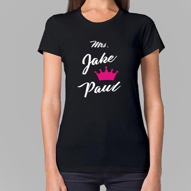 Mrs Jake Paul Women Black T shirt Size S M L XL #Unbranded #BasicTee #streetstyle #moda #modamasculina #roupasmasculinas #menscuts #homem #lookdodia #homens #homensvaidosos #estiloderua #menstyle #mensfashion #mensstyle #love #friends #fresh #boy #boys #tshirt #jeansdestroyed #jeans #shoeso #ootd #fashion #fudge #shoplist #birkenstock #cottontshirt