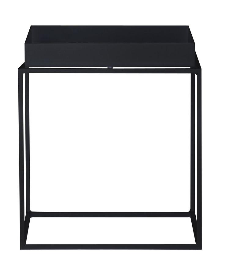 Couchtisch Tray H 40 cm - 40 x 40 cm, Schwarz von Hay finden Sie bei Made In Design, Ihrem Online Shop für Designermöbel, Leuchten und Dekoration.                                                                                                                                                                                 Mehr