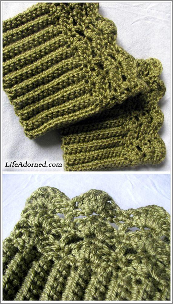 Free Crochet Pattern: Belmont Boot Toppers