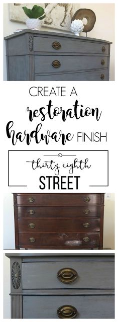 Restoration Hardware Inspired Dresser Tutorial: Learn How To Create A RH Finish Without Breaking The Bank! Easy Tutorial With Tips & Tricks! || Thirty Eighth Street