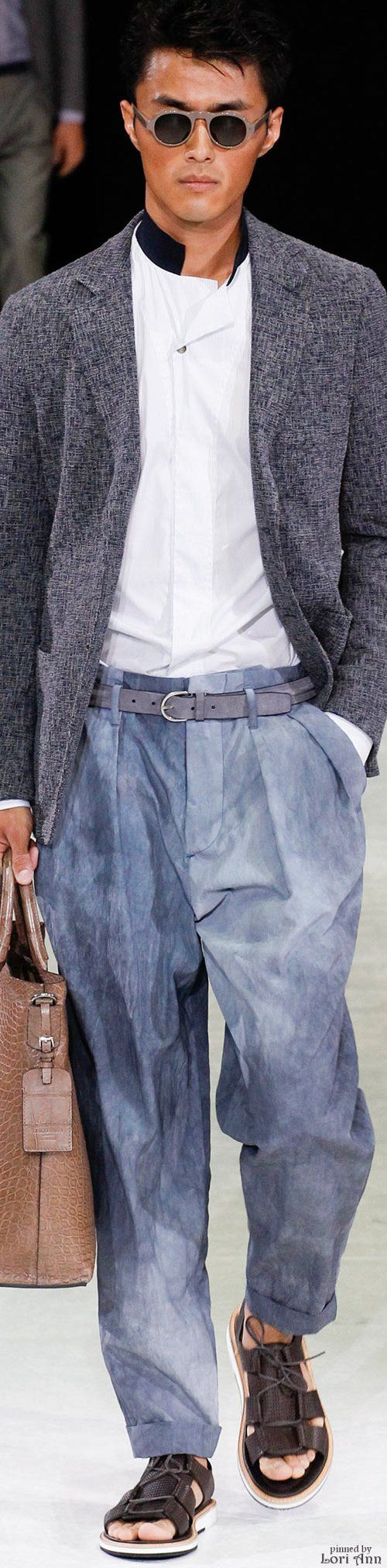 Giorgio Armani 2015 | Men's Fashion | Menswear | Men's Outfit for Spring/Summer | Moda Masculina | Shop at designerclothingfans.com