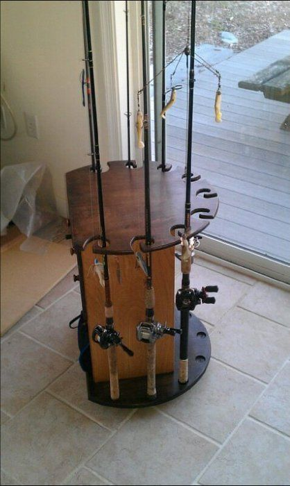 Fishing rod holder/tackle organizer
