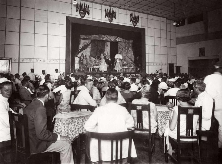 1928 moulin rouge in Surabaya...look at those ladies styles, Gatsby era, short hair flapper styles