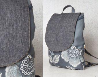 Black laptop backpack with flowers pattern, backpacks for girls, cute backpacks, canvas backpack, cool backpacks, school backpacks