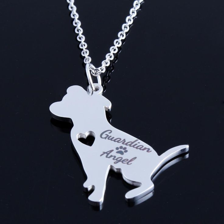 New Guardian Angel PitBull Necklace