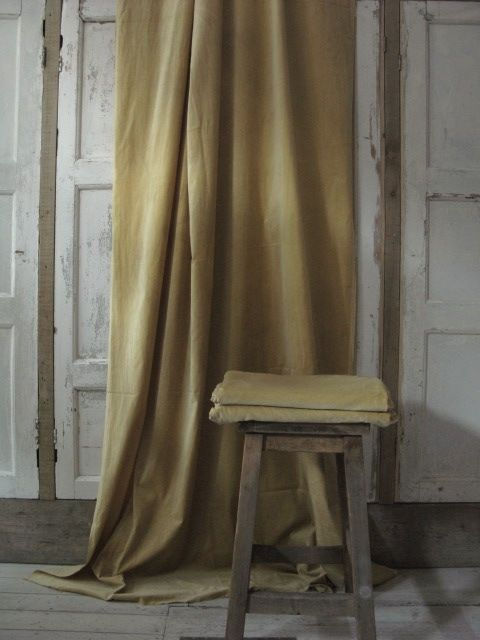 Hand dyed lengths of fabric suitable for curtains and lightweight domestic upholstery.Length 3 meters, width 145 CMS.£95 per meter. 3 meter minimum order.