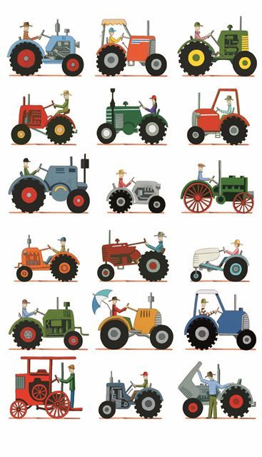The Tractor Show - print on paper