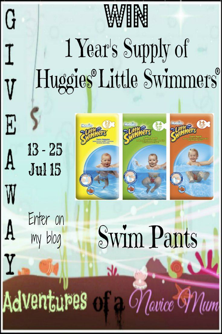 #WIN 1 year's supply of HUGGIES® Little Swimmers® swim pants with @aNoviceMum   #comp #giveaway #competition