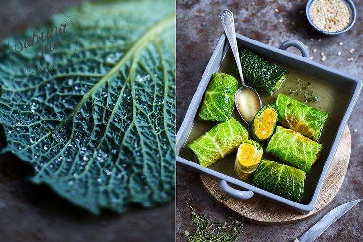Wirsing Kürbis Päckchen mit Hokkaido, herzhaftem Greyerzer Käse und Tsampa. Tsampa ist ein tibetanisches Grundnahrungsmittel mit besonderen Eigenschaften.