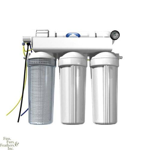 Pinnacle+ RO, 800 L/200 gallon / day Reverse osmosis and deionizer water filter with Seachem membrane which removes 99 percent of all impurities including silicates. Includes automatic shutoff valve for easy addition of top off or drinking water systems. All Pinnacle RO units use the highest quality components available and feature modular design to ensure easy accessory add ons. Includes one carb... #Seachem #PetProducts
