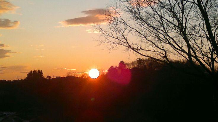 Solnedgang på Nordvik,  Sotra