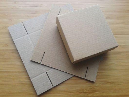Подарочная упаковка ручной работы. Коробочка из микрогофрокартона 8х8х3см. Заготовка.. Виноградная лоза. Ярмарка Мастеров. Коробка для упаковки, коробка для пересылки