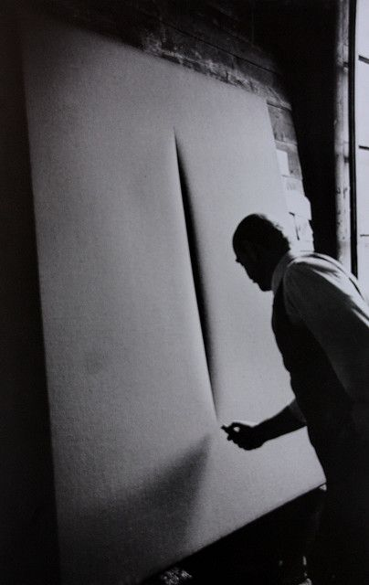artist Lucio Fontana 1899 – 7 September 1968) was an Italian painter, sculptor and theorist of Argentine birth.[1] He was mostly known as the founder of Spatialism and his ties to Arte Povera.