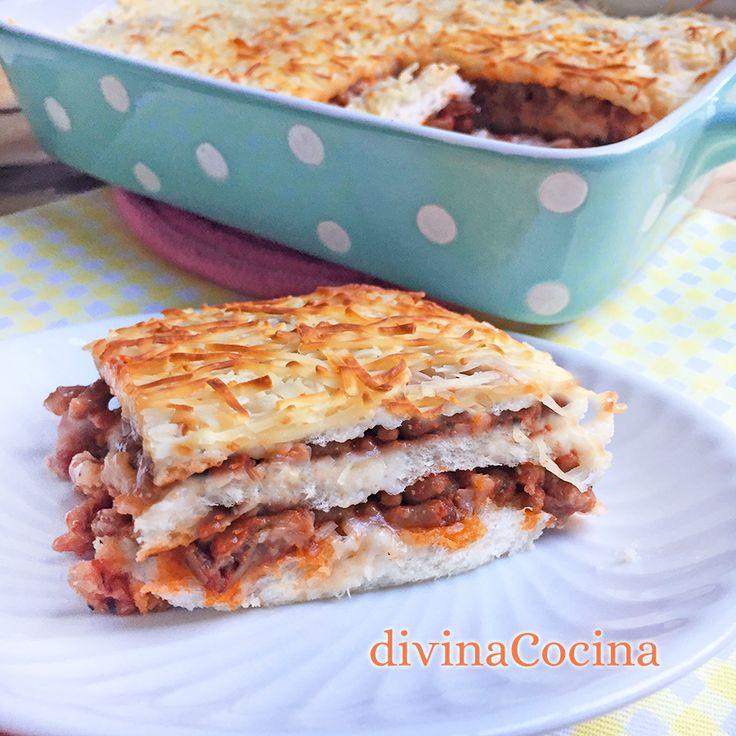Esta receta de pastel de carne con pan de molde te va a encantar. Se prepara con ingredientes muy sencillos, es práctica y deliciosa.