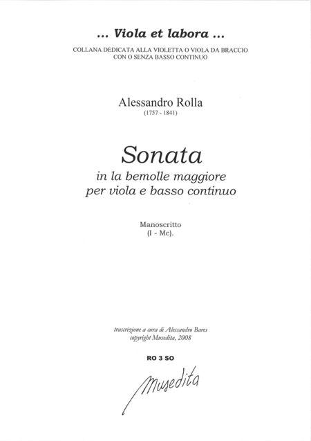 Viola Sonata in A flat Major (Manuscript, I-Mc)