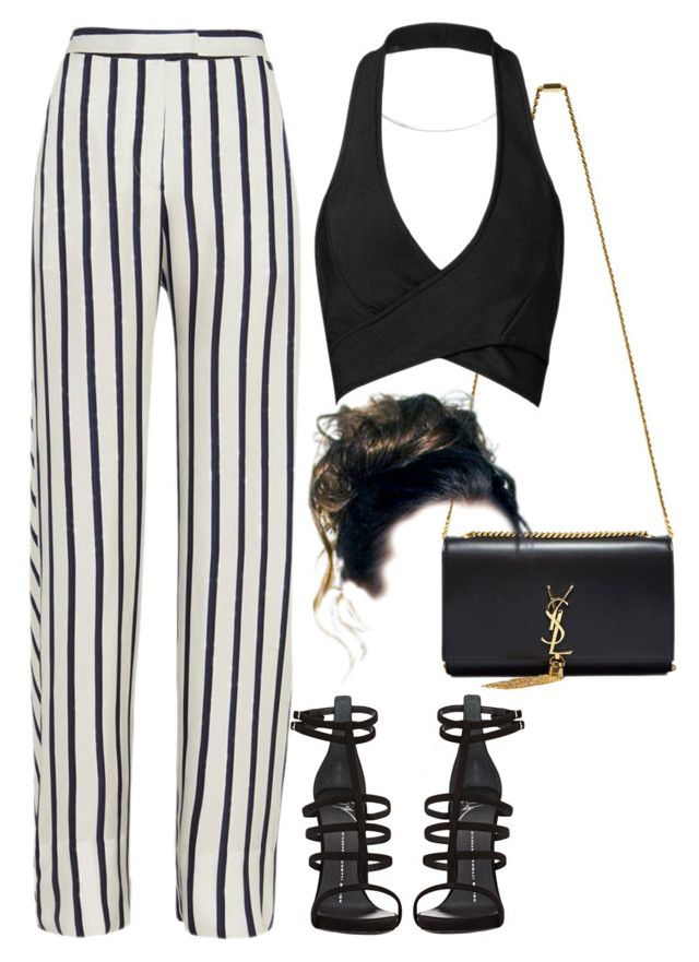 """""""Untitled #480"""" by chandele ❤ liked on Polyvore featuring Yves Saint Laurent, Posh Girl, Giuseppe Zanotti and Nicholas"""