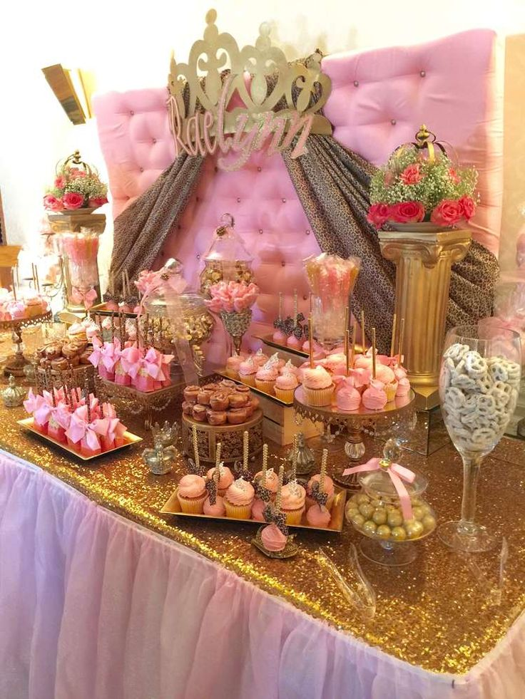 Cheetah princess baby shower party ideas in 2019 - Decoration baby shower girl ...