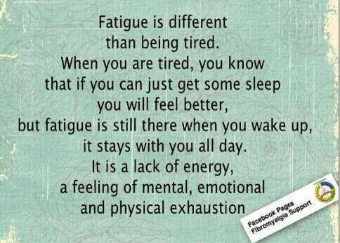 "Fatigue is the curse that just keeps on giving. It is a part of so many chronic conditions. If you've heard the phrase, ""I was so tired I couldn't get to sleep,"" you've heard the effect of fatigue."