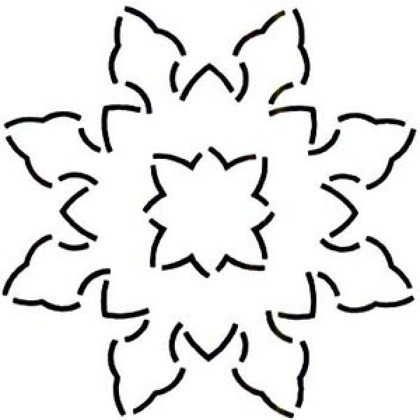 Free Snowflake Quilting Stencil : Quilt Stencil Snowflake 3 Pack 6in. Continuous line Quilting Pinterest Snowflakes, Quilt ...