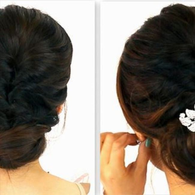 Pin On Bun Hairstyle With Saree For Short Hair