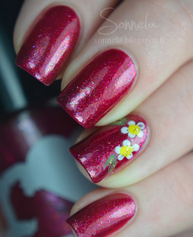 Edgy Polish - Rainbow Honey Cranberry Sangria