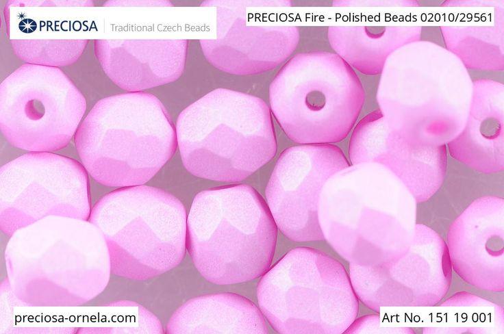 PRECIOSA Fire-Polished Beads - 151 19 001 - 02010/29561 - Pink | by PRECIOSA ORNELA