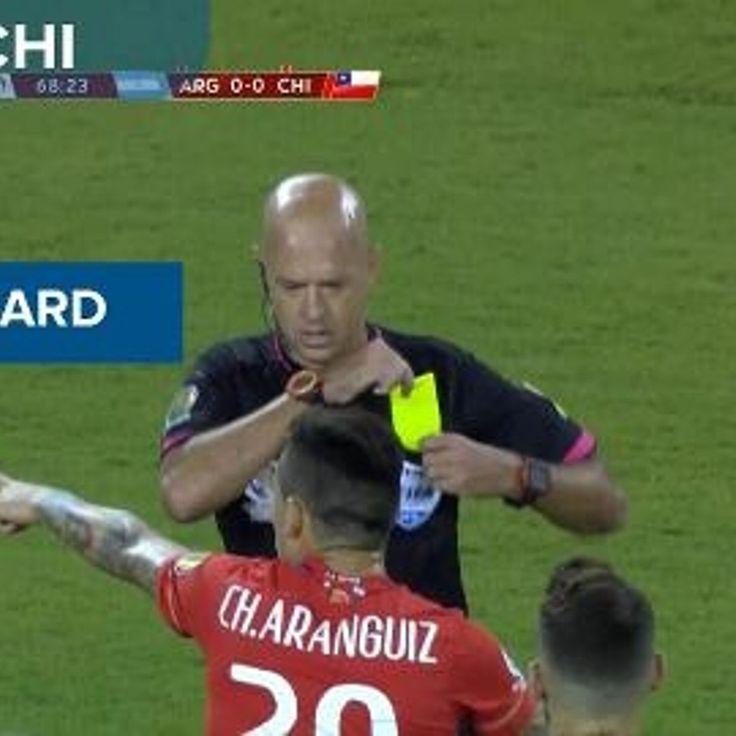 Argentina vs Chile - Foul - Yellow Card - Charles Aranguiz - COPA AMERICA CENTENARIO 2016-27th June 2016-Final