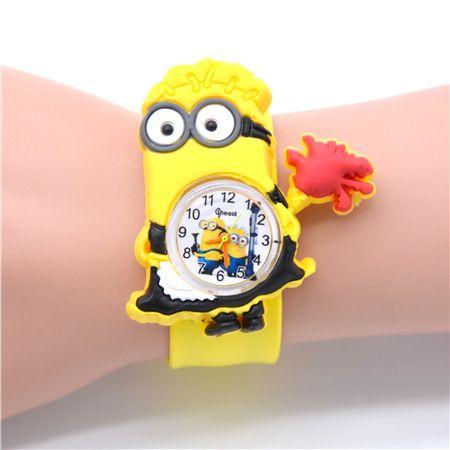3D Eye Despicable Me minion Cartoon Precious Milk Dad Cute Children kid Quartz Wrist Watches for Girls Boys | worth buying on AliExpress