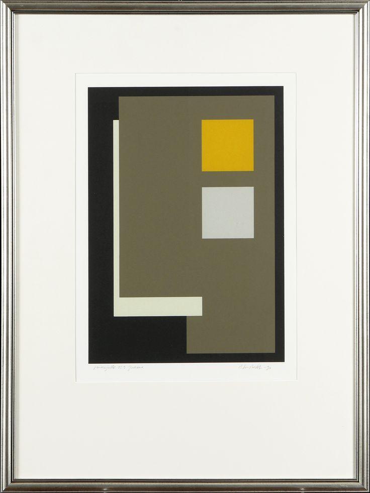 Juhana Blomstedt, 1990, serigrafia, 50x34 cm - Hagelstam A125