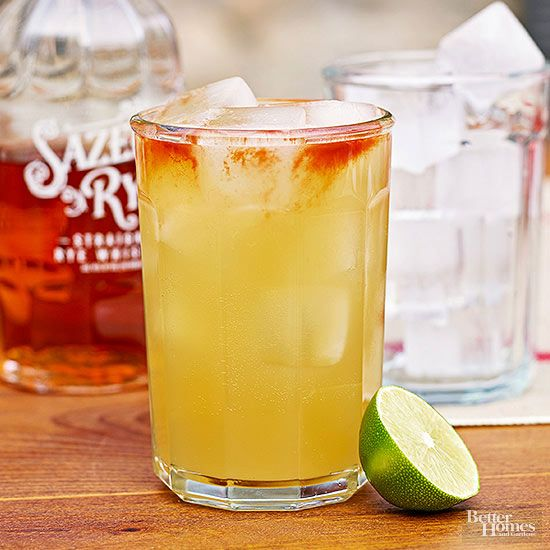 Tall and golden, this cocktail has everything you'd want in a fall drink: ginger beer, whiskey, St. Germain, and lime. Be sure to make an extra glass, because one just won't do./