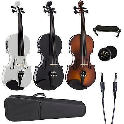 Cecilio Acoustic Electric Violin Ebony Fitted ~Natural Wood, Black or White. Deal Price: $129.99. List Price: $175.49. Visit http://dealtodeals.com/cecilio-acoustic-electric-violin-ebony-fitted-natural-wood-black-white/d19487/musical-instruments/c99/ #ElectricViolin