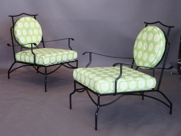 Pair Asian Modern Outdoor Lounge Chairs c.1950s | From a unique collection of antique and modern lounge chairs at http://www.1stdibs.com/furniture/seating/lounge-chairs/