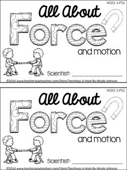 This 28-page science mini-book was created to help teach the Next Generation Science Standards for 3rd grade in forces and interactions (3-PS2).It covers the following principles: what is force, different kinds of force, gravity, magnets, contact forces, action-at-a-distance forces, predicting motion, net zero force, balanced vs.