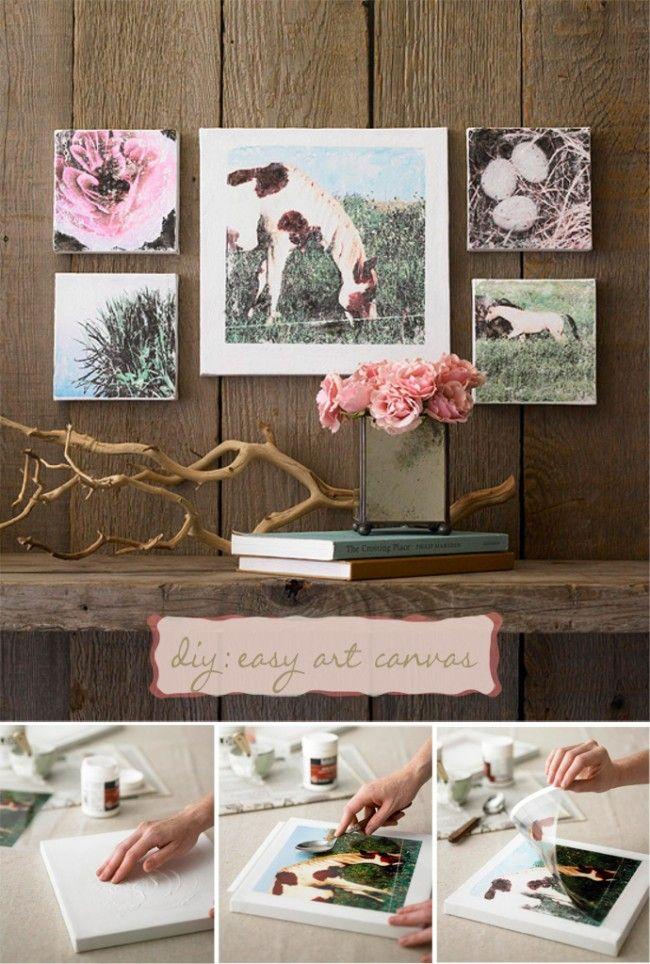How To Transfer Photos To Canvas | DIY Cozy Home