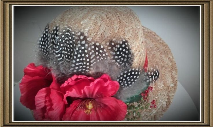 VALENTINO icon Canotier Hat Boater Runway Summer Party Wedding Flowers Feathers #Handmade…