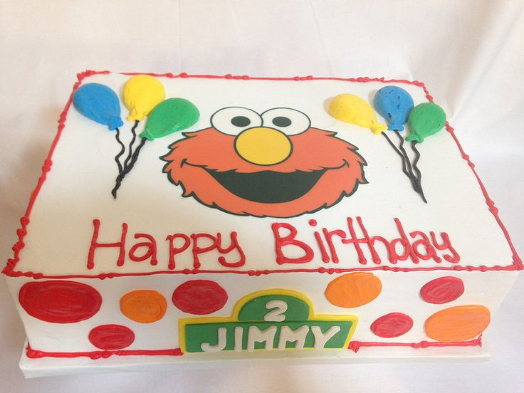Sesame Street Baby Shower Sheet Cake