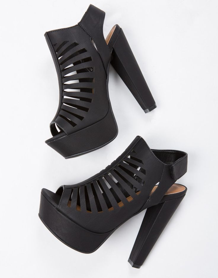 Caged Platform Sandal Heels | Shoes, Heels and Platform