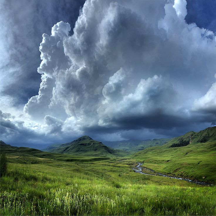 A storm brewing - Loteni, Southern Drakensberg, South Africa.