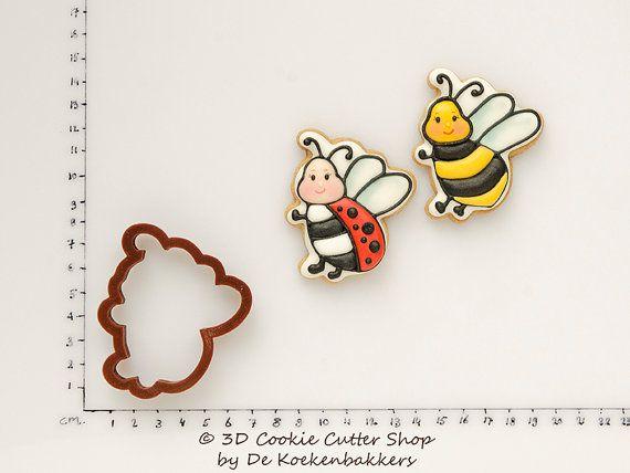 Ladybug / Bee Cookie Cutter от 3DCookieCutterShop на Etsy
