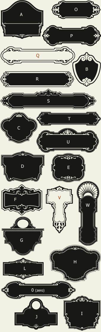 Letterhead Fonts / LHF Broadway Panels 1/ Art Deco Panels NOT FREE
