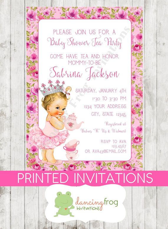 Vintage Antique Baby Shower Tea Party by DancingFrogInvites