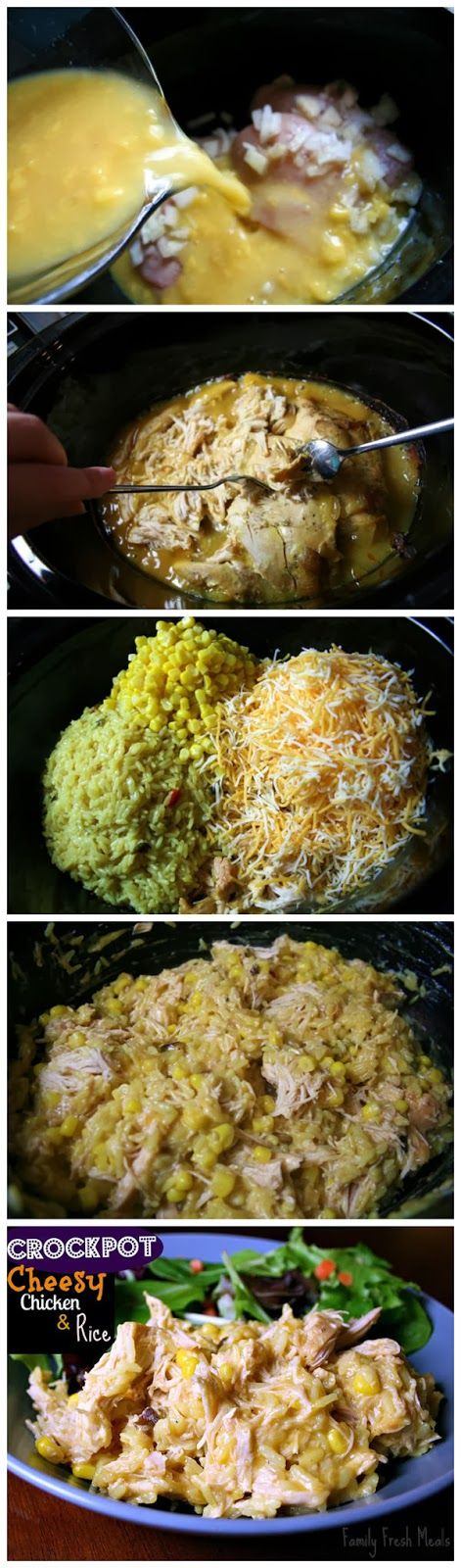 Crockpot Cheesy Chicken & Rice