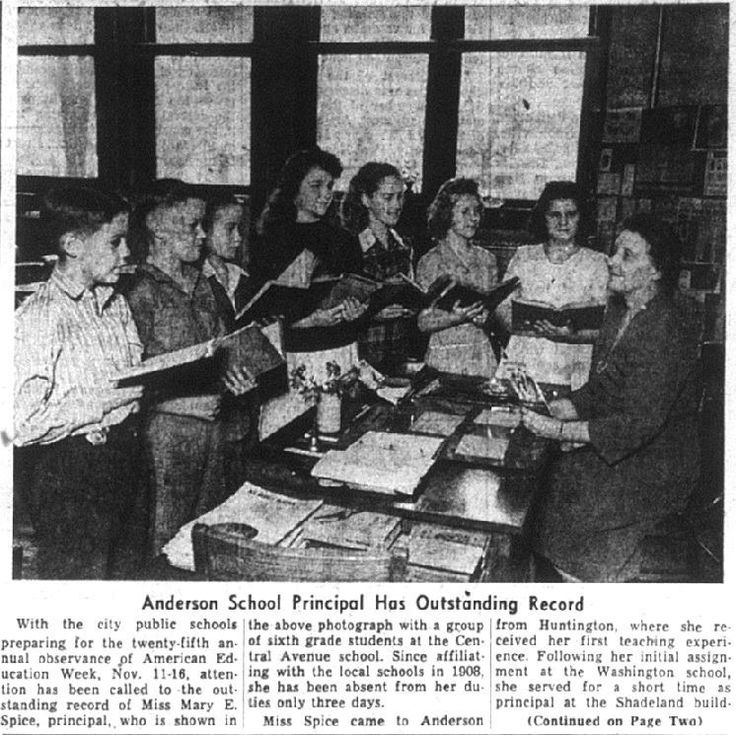 Central Ave school 1945 Anderson indiana, Hometown, Photo