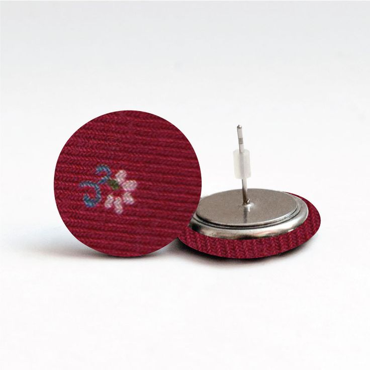 Pecky látkové  náušnice earrings www.udelejsiplacku.cz udělej si placku