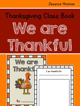 Thanksgiving Class Book- We are Thankful