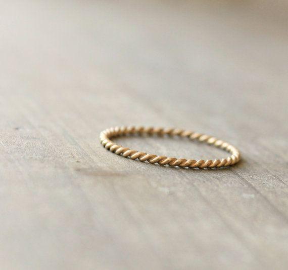 Goldenen Hochzeit Jahrestag Ring 14 k Gold von kristinwelchdesigns