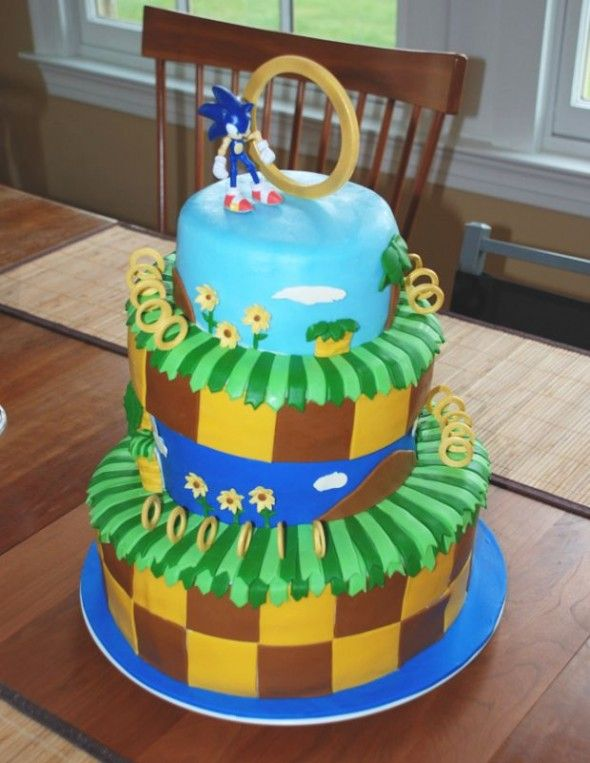 sonic the hedgehog cake 489 best cakes images on 7593